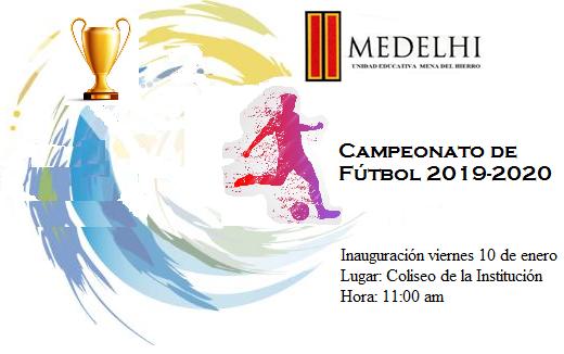 Comienza el 10 de enero, en el Coliseo de la Institución, a las 11:00 am el Campeonato de Deporte con la Inauguración y partidos amistosos. ¡Éxitos a todos, que gane el mejor equipo!